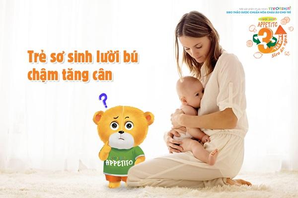Trẻ sơ sinh biếng ăn, lười bú mẹ phải làm sao?