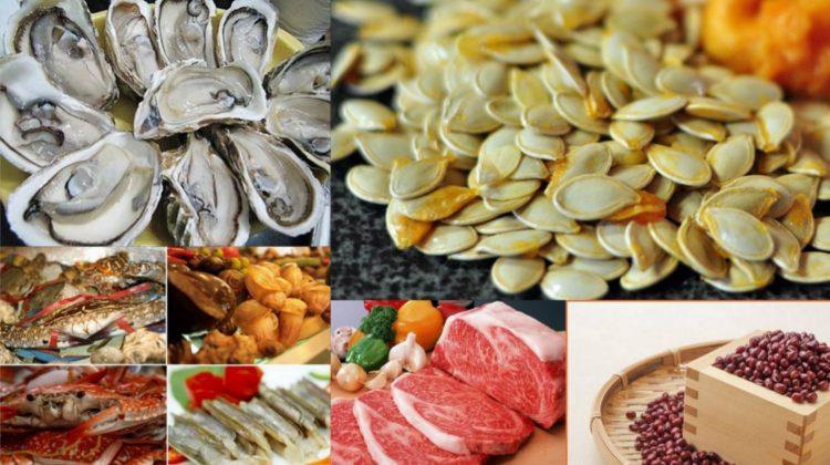 Một số loại thực phẩm giàu kẽm