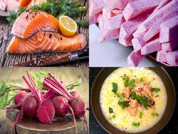 Món cháo cá hồi của dền dinh dưỡng cho trẻ