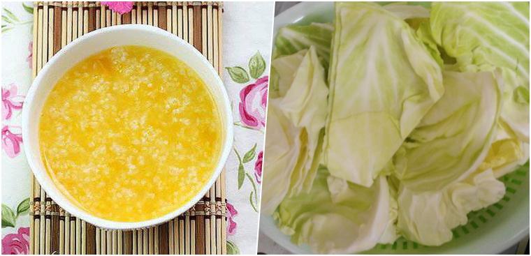 Nấu cháo trứng gà bắp cải ngon