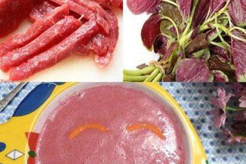 Cháo thịt bò rau dền