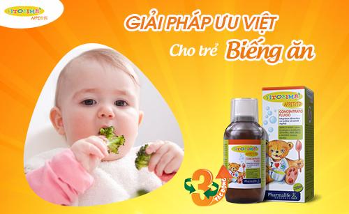 Fitobimbi Appetito - Giải pháp ưu việt cho trẻ biếng ăn